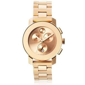 Movado Bold Rose Gold Ion Chronograph Watch